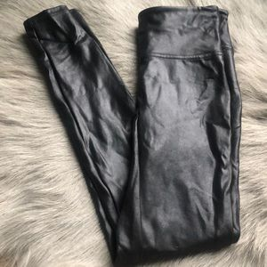 Spanx Black Faux Leather Legging S
